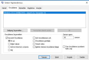 Windows 10 Güvenli Mod