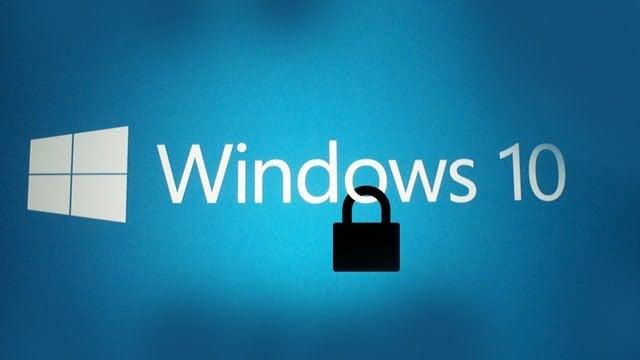 Windows 10 şifre kaldırma