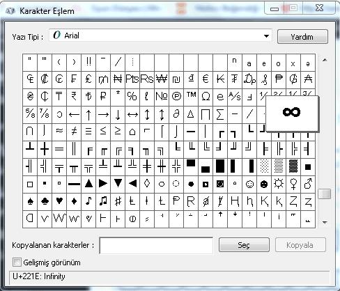 Sonsuzluk İşareti (∞) Klavyede Nasıl Yapılır