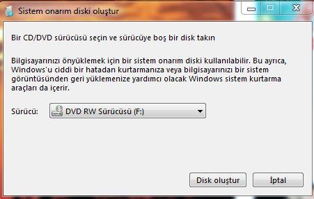 Sistem Onarım Diski