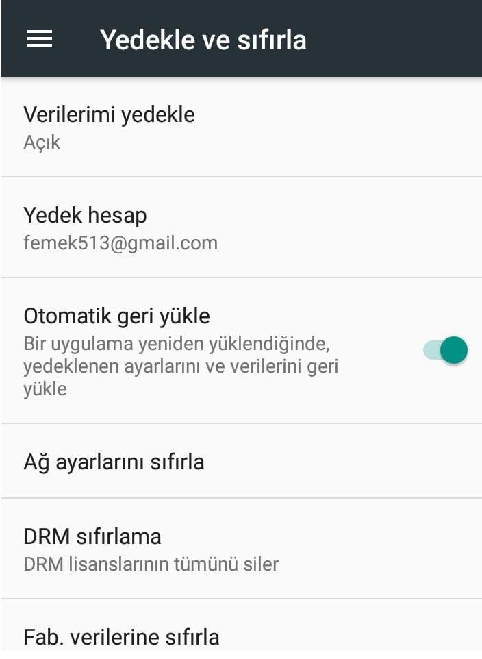 Android Telefonlara Format Atma