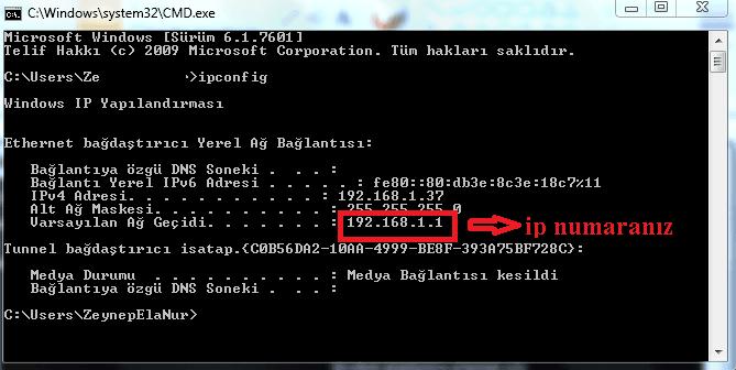 IP Adresi Nasıl Öğrenilir