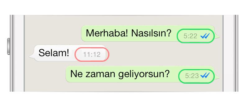 WhatsApp Mesajlardaki Yanlış Zaman Bildirimleri