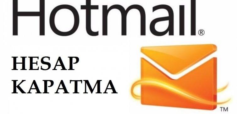 Hotmail Hesap Kapatma