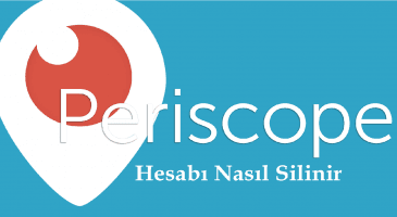 Periscope Hesap Silme