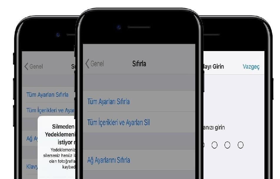 iPhone Sıfırlama Nasıl Yapılır