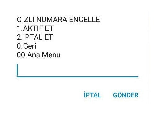 Türk Telekom Gizli Numaraya Engelleme