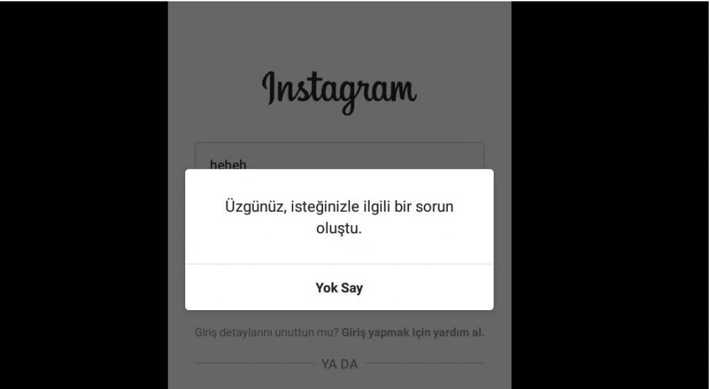 instagrama Giriş Yapamıyorum