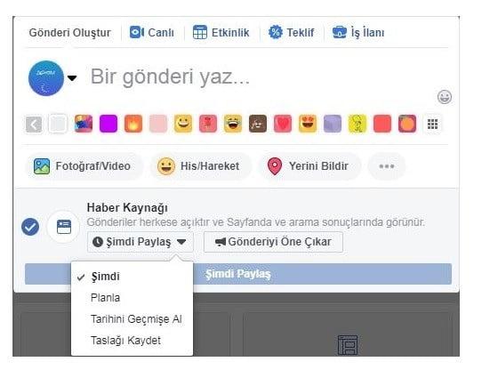 Facebook Sayfalarda Planlanmış Gönderi Oluşturma
