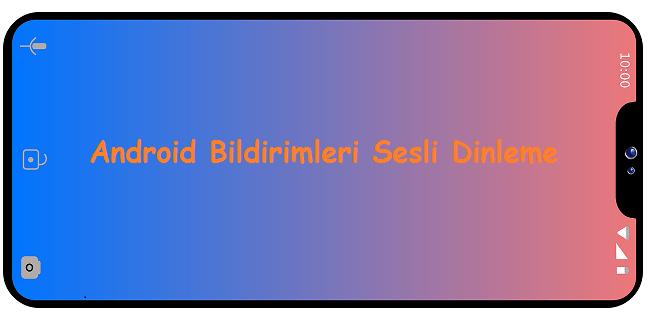 Android Bildirimleri Sesli Dinleme
