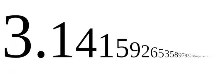 pi işareti 314
