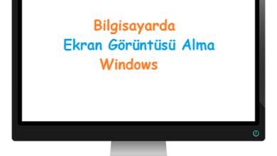 Bilgisayarda Ekran Görüntüsü Alma Windows