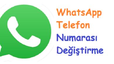 WhatsApp Telefon Numarası Değiştirme