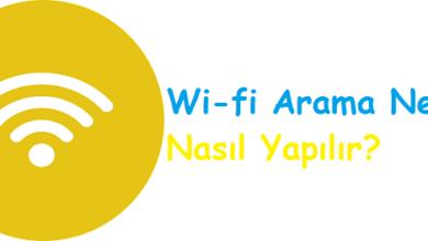 Wi-fi Arama Nedir Nasıl Yapılır
