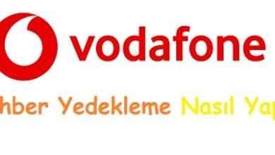 Vodafone Rehber Yedekleme Nasıl Yapılır