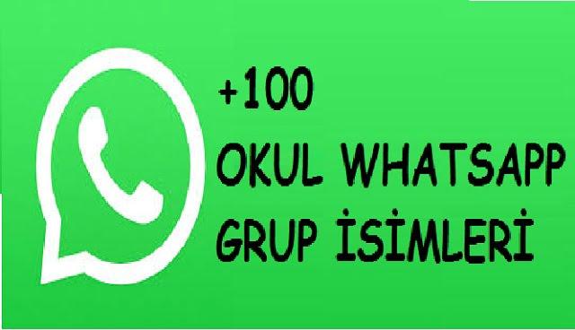 okul whatsapp grup isimleri