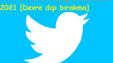 Twitter kalıcı hesap silme linki 2020 [Devre dışı bırakma]