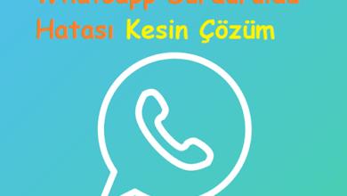 Whatsapp Durduruldu Hatası Kesin Çözüm