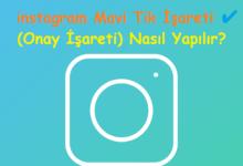 instagram Mavi Tik İşareti ✔ (Onay İşareti) Nasıl Yapılır