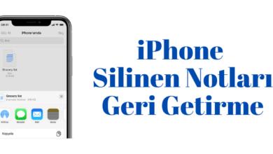 iphone silinen notlari geri getirme