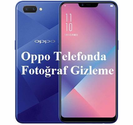 Oppo telefonda fotoğraf gizleme