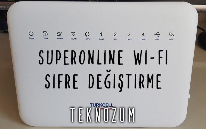 Superonline Wi-Fi Şifre Değiştirme