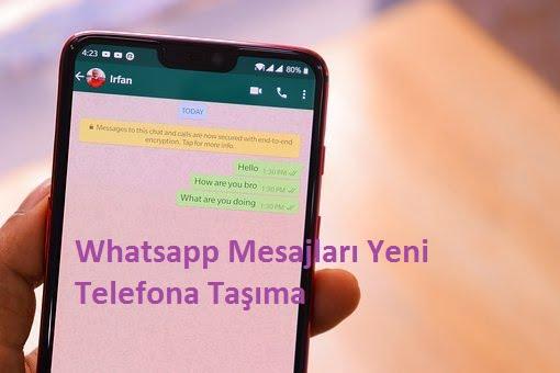 whatsapp mesajları yeni telefona taşıma