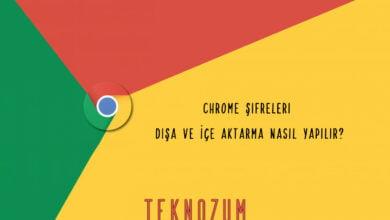 Chrome Şifreleri Dışa ve İçe Aktarma Nasıl Yapılır?