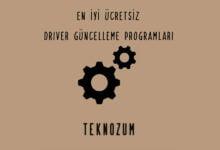 En iyi Ücretsiz Driver Güncelleme Programları