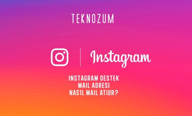 Instagram Destek - Mail Adresi ve Mail Atma