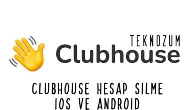 ClubHouse Hesap Silme