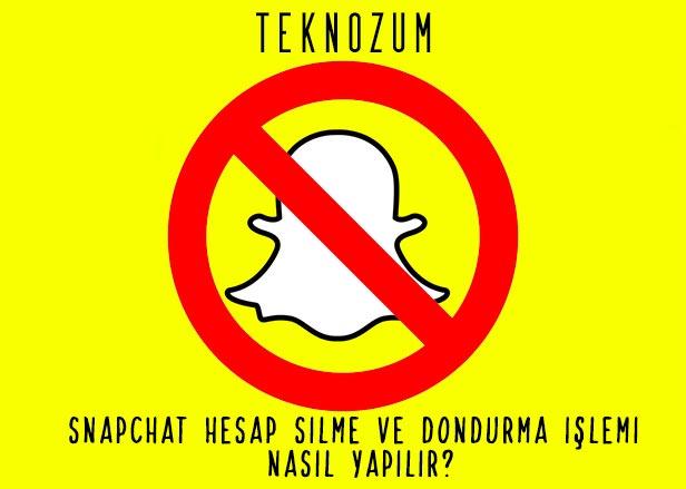 Snapchat Hesap Silme ve Dondurma İşlemi Nasıl Yapılır?