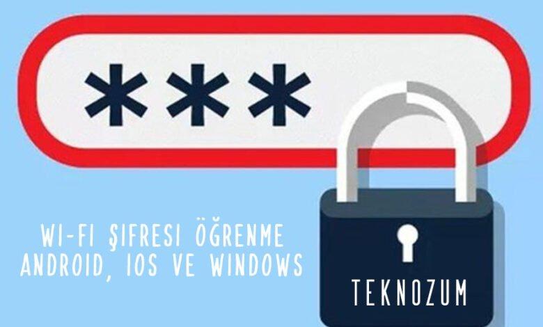 Wi-Fi Şifresi Öğrenme