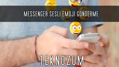 Messenger Sesli Emoji Gönderme