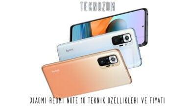 Xiaomi Redmi Note 10 Teknik Özellikleri ve Fiyatı